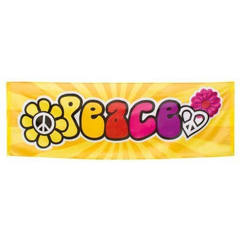 Banner: Hippie 'Peace' Giant Banner - 2.2m