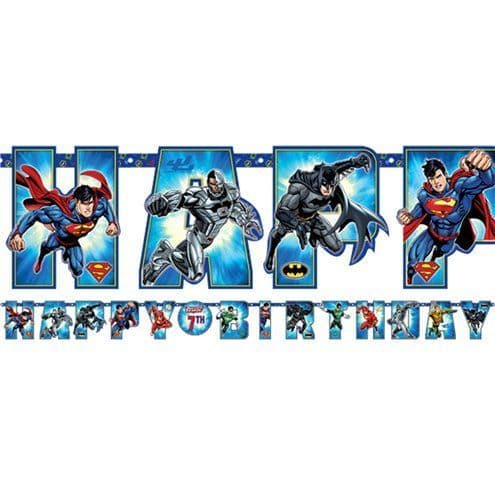 Banner: Justice League 'Add an Age' Letter Banner