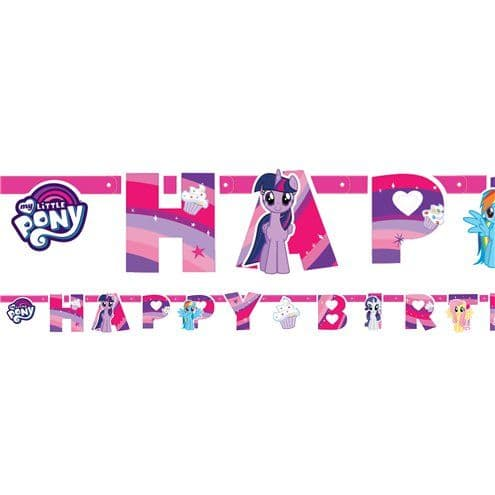 Banner: My Little Pony 'Happy Birthday' Letter Banner - 1.3m