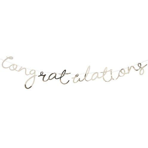 Banner: Pick & Mix Pastel Gold 'Congratulations' Banner - 1.5m