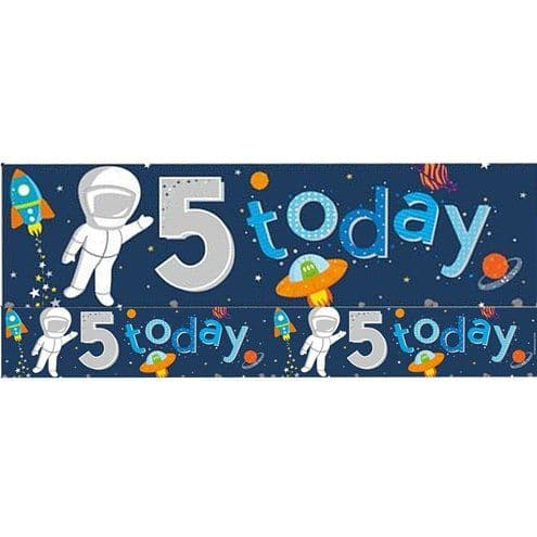 Banner: Space 5th Birthday Foil Banner - 2.6m