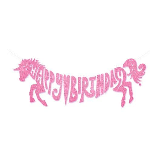 Banner:Unicorn Party Glitter Garland - Build Your Own
