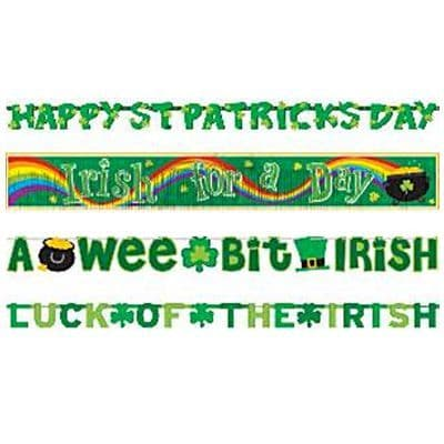 Banner: Value Banner Pack - 2.28m St Patrick's Day Decorations (4pk)