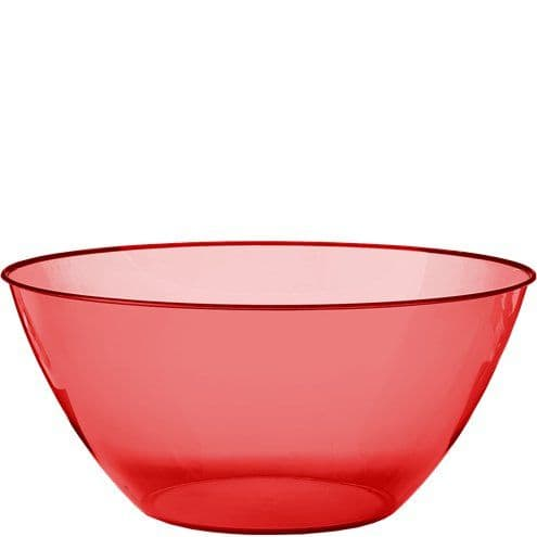 Bowl: Red Plastic Serving Bowl - 4.7L