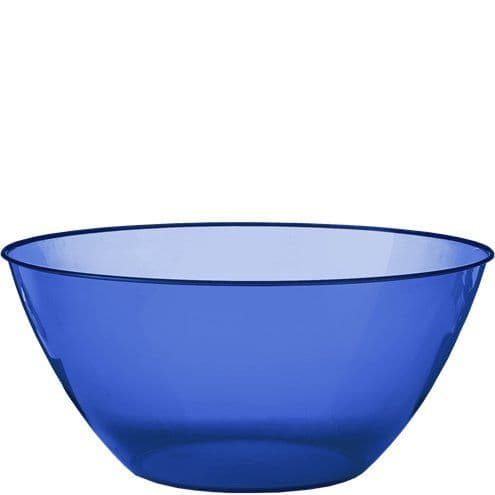 Bowl: Royal Blue Plastic Serving Bowl - 4.7L