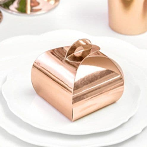 Box: Rose Gold Favour Boxes x10pk
