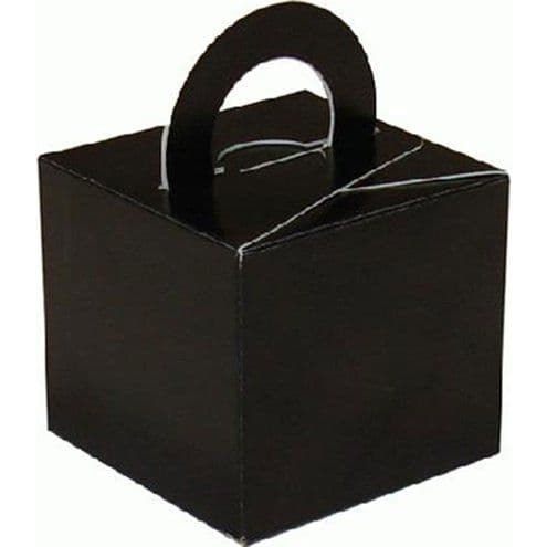 Box/Weight: Black Cube Balloon Weight/Favour Boxes (10pk)