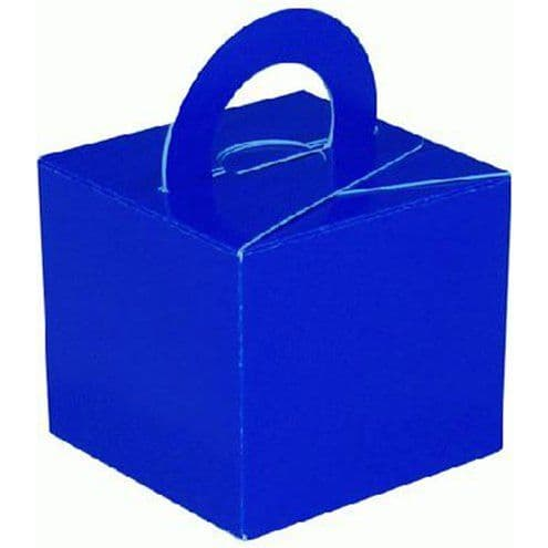 Box/Weight: Blue Cube Balloon Weight/Favour Boxes (10pk)