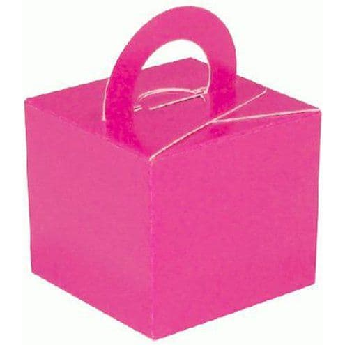 Box/Weight: Hot Pink Cube Balloon Weight/Favour Boxes (10pk)