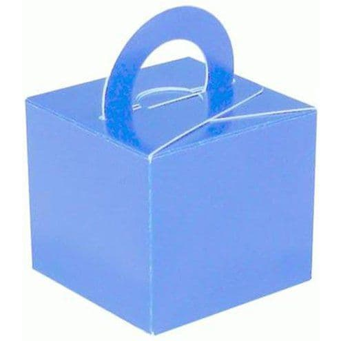 Box/Weight: Light Blue Cube Balloon Weight/Favour Boxes (10pk)