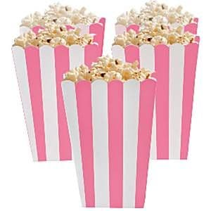 Boxes: Candy Buffet Popcorn Boxes - New Pink x5pk