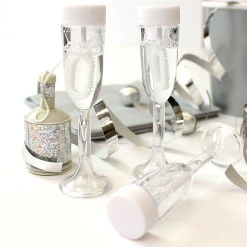 Bubbles: Champagne Glass Wedding Bubbles (24pk)