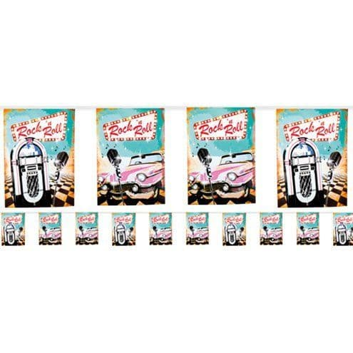 Bunting: 50s Classic Rock n Roll Bunting - 6m