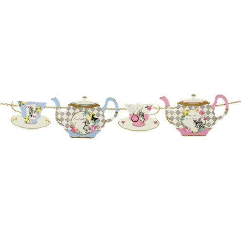 Bunting: Alice in Wonderland Tea Party Bunting - 4m