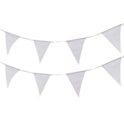Bunting: Beautiful Botanics White Fabric Bunting