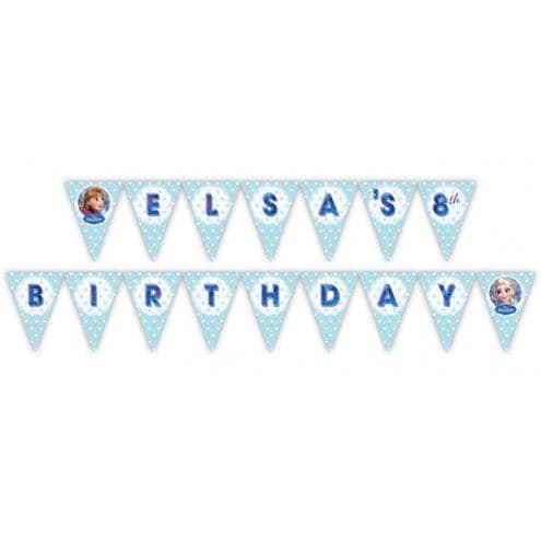 Bunting:  Disney Frozen Personalised Holographic Foil Bunting - 3m