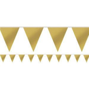 Bunting: Gold Paper Bunting - 4.5m