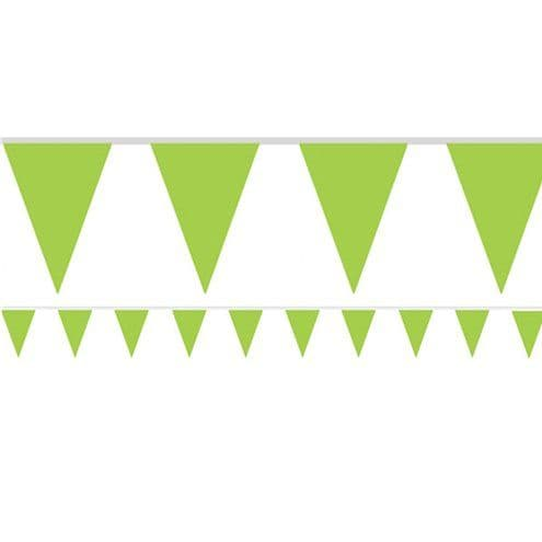 Bunting: Lime Green Paper Bunting - 4.5m