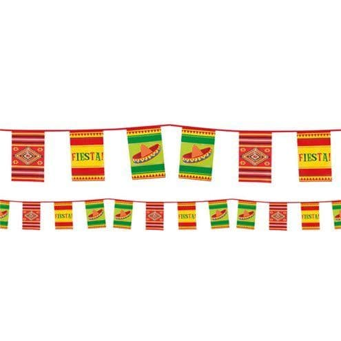 Bunting: Mexican Fiesta Paper Bunting - 10m