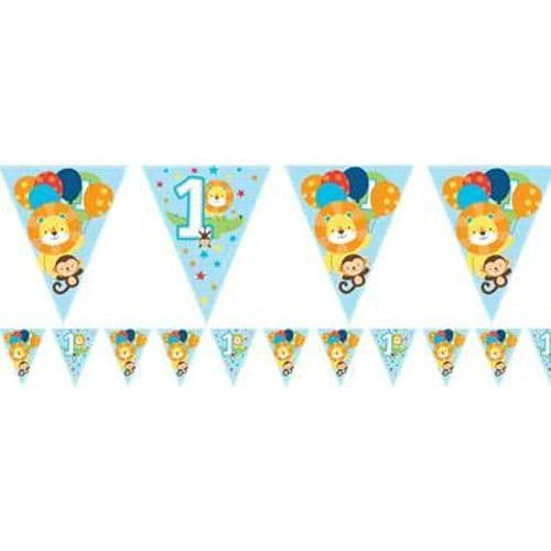 Bunting: One is Fun Boy Paper Flag Bunting