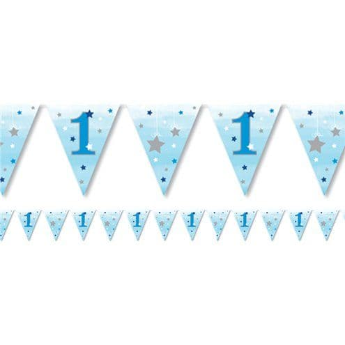 Bunting: One Little Star Boy Paper Bunting- 4m