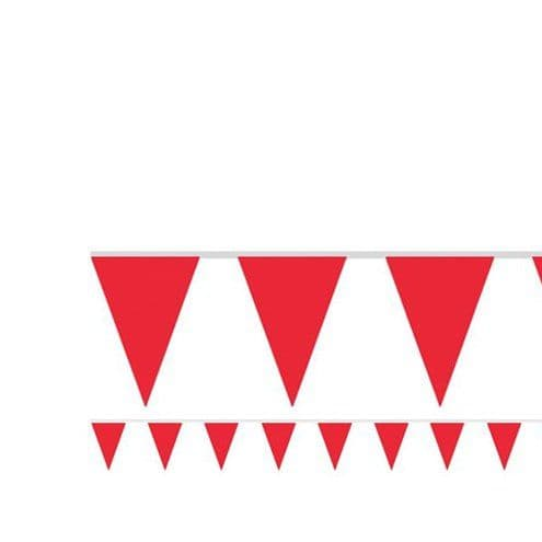 Bunting: Red Paper Bunting - 4.5m