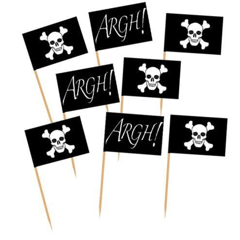 Cake Picks: Pirates Flag Picks x50pk