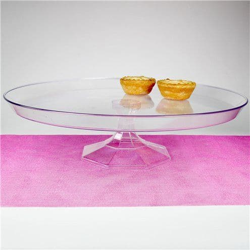 Cake Stand: Clear Plastic Dessert Stand - (various sizes)
