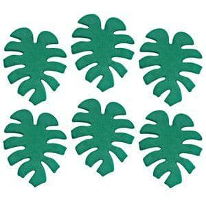Cake Topper: Tropical Leaf Sugar Toppers - Cake Decorations x6pk