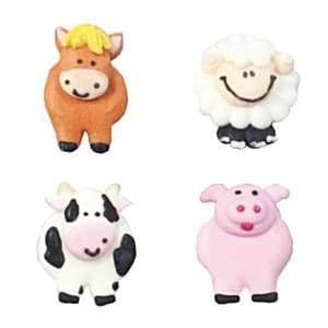 Cake Toppers: Farmyard Sugar Toppers - Cake Decorations (12pk)