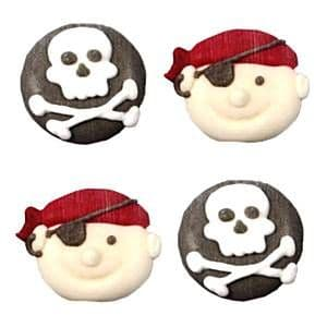 Cake Toppers: Pirates Sugar Toppers - Cake Decorations (12pk)