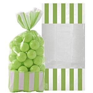 Candy Buffet: Cellophane Sweet Bags - Kiwi Green (10pk)