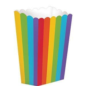 Candy Buffet: Small Rainbow Popcorn Boxes - 13cm x5pk