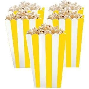 Candy Buffet: Sunshine Yellow  Popcorn Boxes x5pk