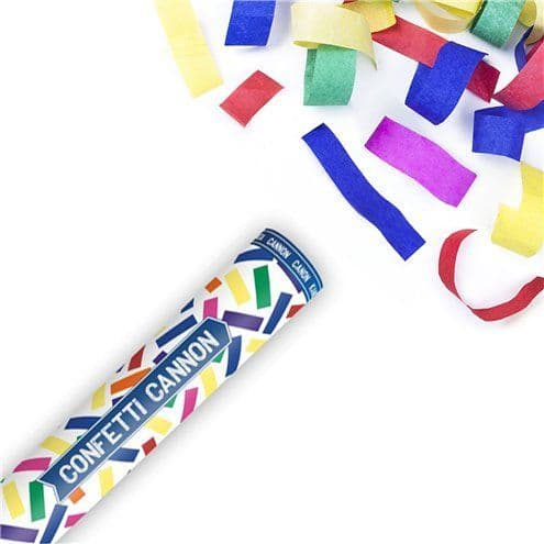 Cannon: Multi Coloured Confetti Cannon - 20cm
