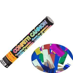 Cannon: Multi Coloured Foil Confetti Cannon -30cm
