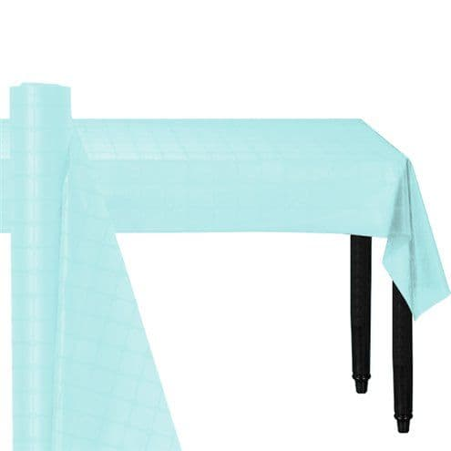 Catering: Light Blue Paper Banqueting Roll - 8m