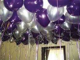 Ceiling balloons - any colour or theme - Price for 60 balloons