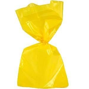 Cello bags: Yellow Large Cellophane Party Bags - 29cm (25pk)
