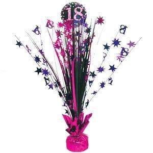 Centrepiece: Pink Celebration Age 18 Table Centrepiece - 46cm