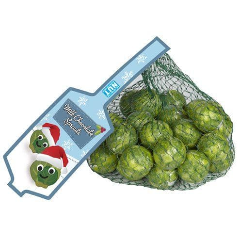 Chocolate: Net of Solid Milk Chocolate Brussels Sprouts - 75g