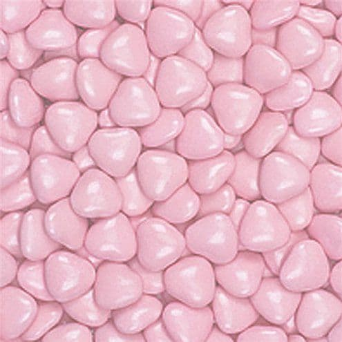 Chocolate: Small Pink Chocolate Hearts - 1kg