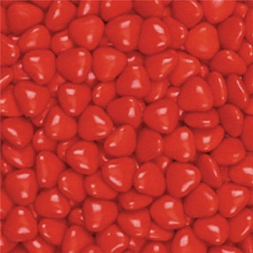 Chocolate: Small Red Chocolate Hearts - 1kg