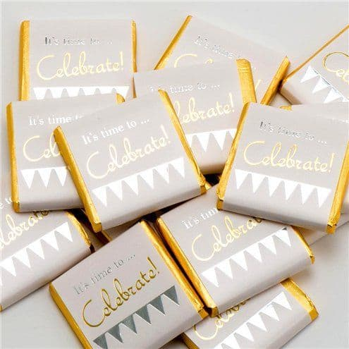 Confectionery: 'It's Time To Celebrate' Chocolate Neapolitans - 50pk