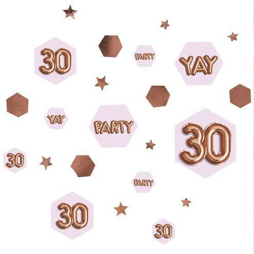 Confetti: 30th Glitz & Glamour Birthday Confetti - 34g Bag