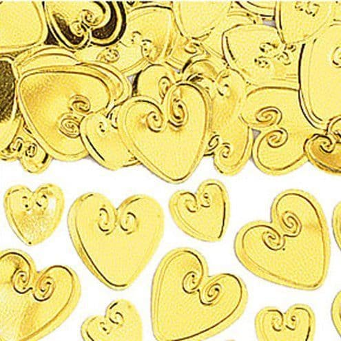 Confetti: Gold Loving Hearts Table/Invite Confetti - 14g