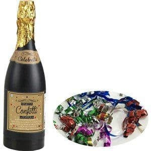 Confetti: Multi Coloured Paper Confetti Champagne Bottle Cannon