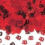 Confetti: Red 40th Anniversary Table/Invite Confetti (14g bag)