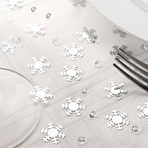 Confetti: Snowflake Confetti & Diamante Table - Invite Confetti (28g bag)