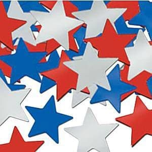 Confetti: Star Table/Invite Confetti - Red, White and Blue (28g bag)